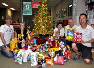 The start of collection around the Christmas tree at ACON in 2009.
